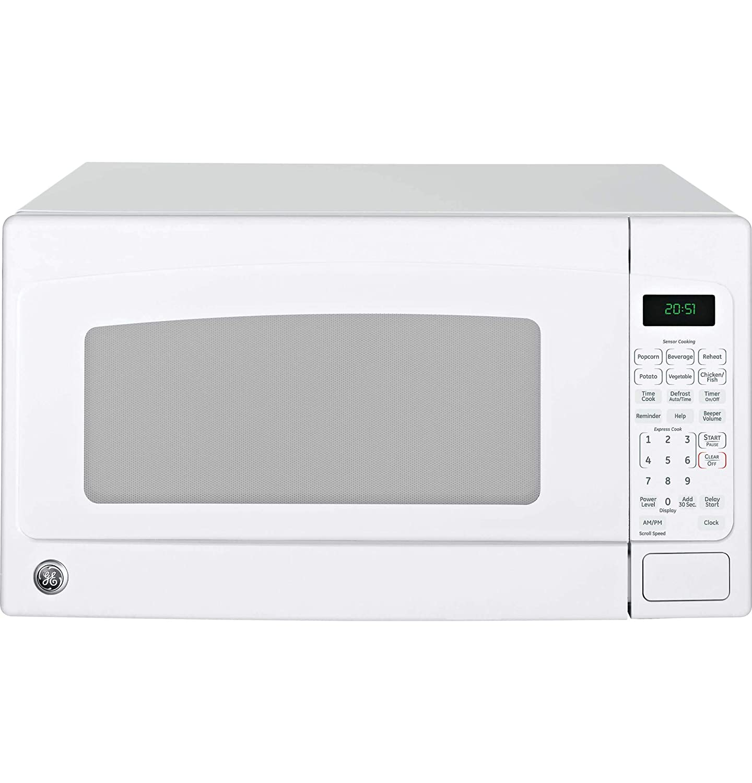 GE 2.0 Cubic Foot Capacity Countertop Microwave, White (Renewed)