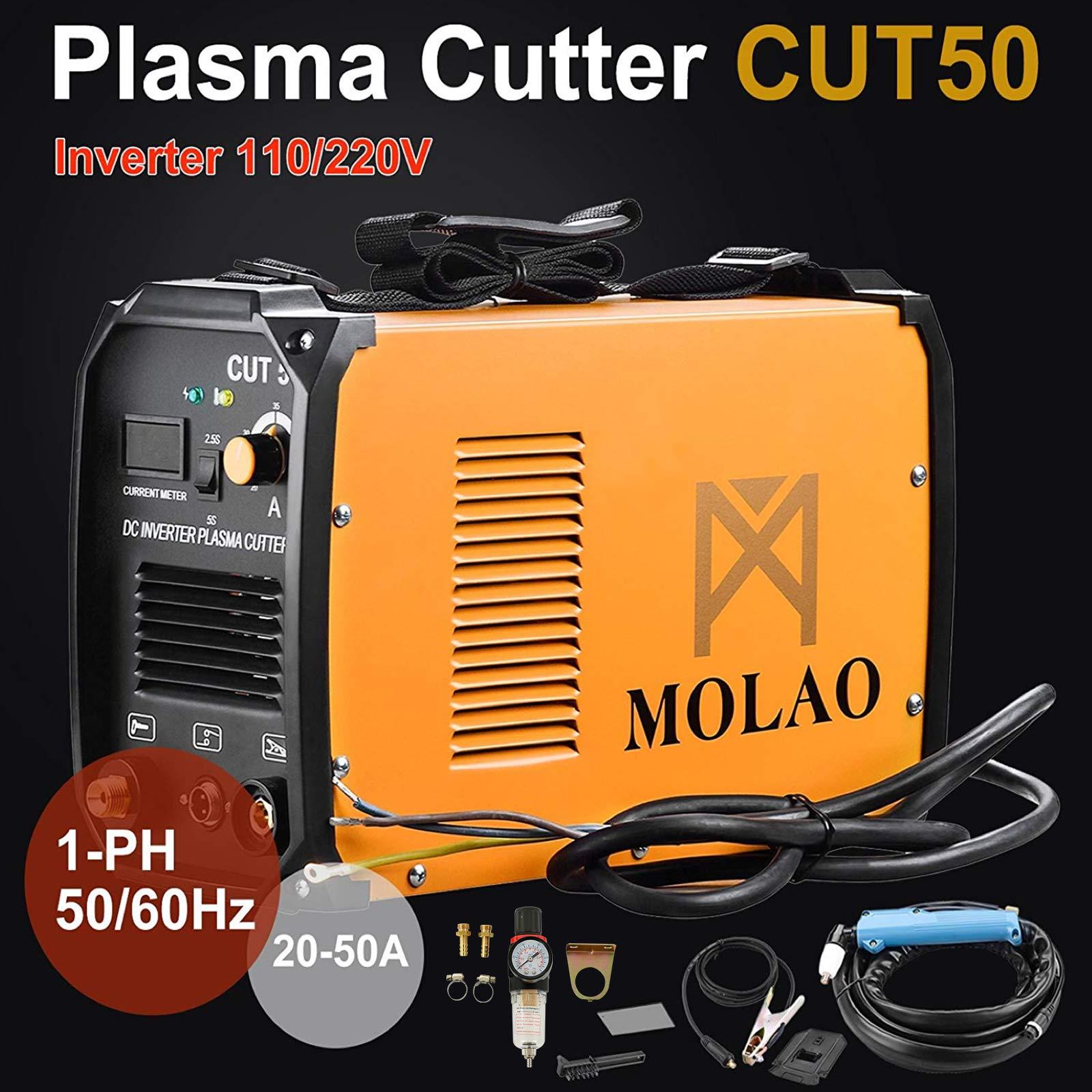 SUNCOO Cut-50 Plasma Cutter Electric DC Inverter Cutting Machine with Digital Display Dual Voltage 110/220V, 1/2'' Clean Cut by SUNCOO (Image #4)