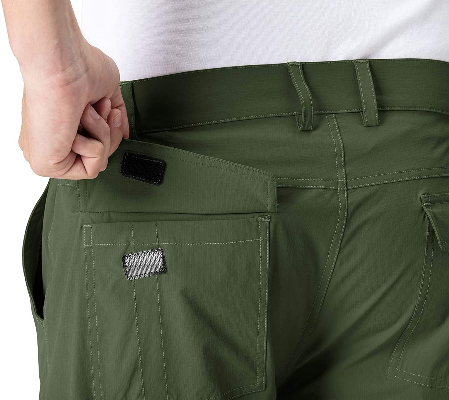 Rdruko Mens Stretchy Quick Dry Cargo Shorts Hiking Cycling Camping Travel Shorts with 6 Pockets