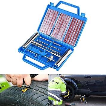 Suparee Reifenreparatursatz Reifenreparatur Werkzeugsatz Griff Reifenstopfen Satz Für Automobile Motorräder Mit Box Ideal Für Pkw Lkw Motorrad Fahrrad Auto