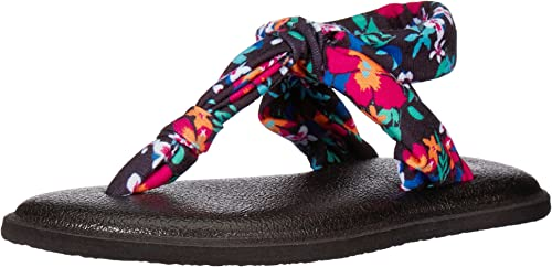 Amazon.com | Sanuk Kids Lil Yoga Sling Ella Prints Flip ...