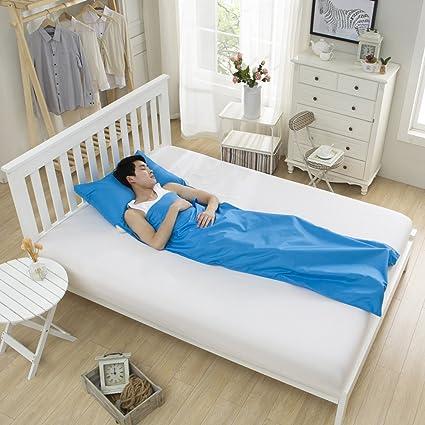 DELIBEST Saco de Dormir Ultraligero de Viaje, Saco de Dormir de Seda Sanitaria, Saco de Dormir ...