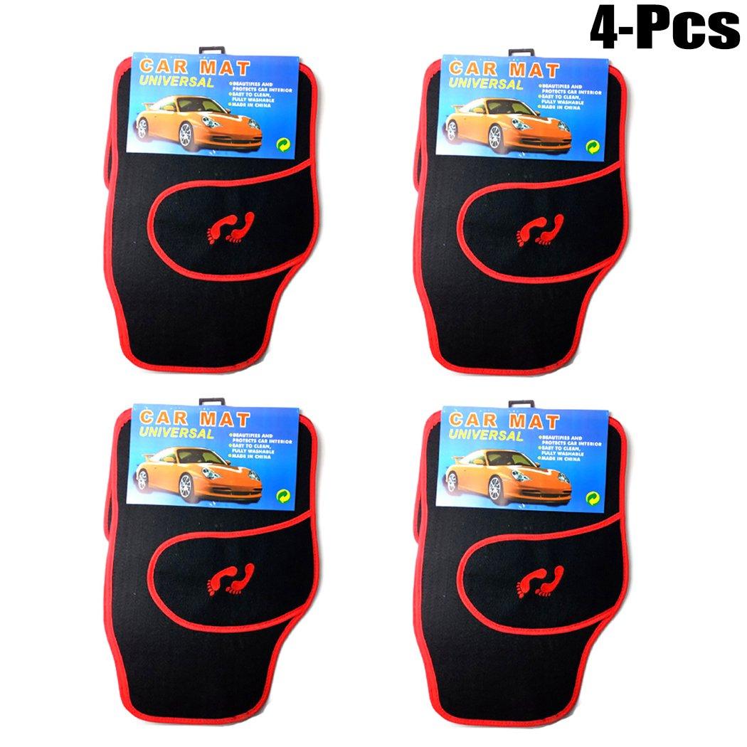 Fansport 4PCS Car Floor Mat Car Floor Carpet Universal Fit Front Rear Car Interior Floor Mat
