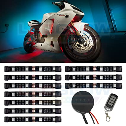 Amazon Com Ledglow 10pc Advanced Million Color Mini Motorcycle Led