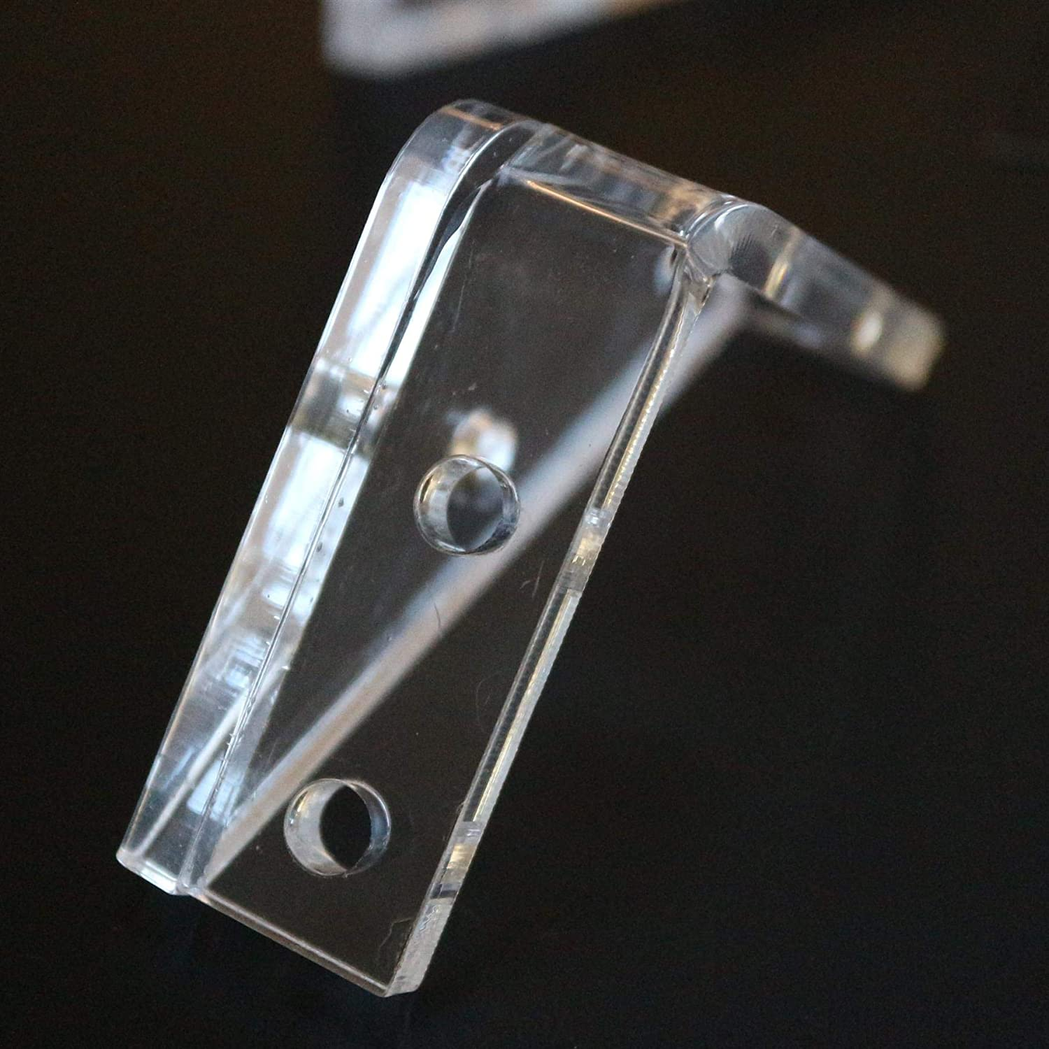 Corner Corner Brackets 4 x V3 Clear Transparent Perspex Acrylic 20x M5 Bolts Clear Right Angle Bracket 5mm thickness