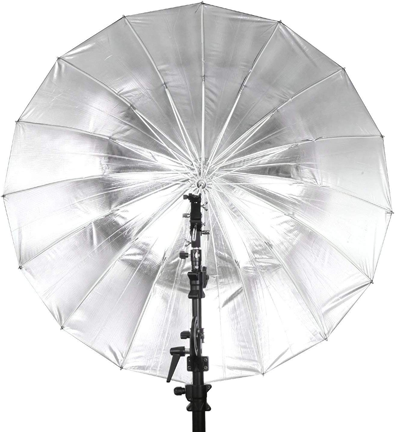 Selens Parabolic Umbrella and Diffuser Photography Lighting 41 Inch Black Silver Reflective Deep Umbrella for Photo Studio Flash Speed Light