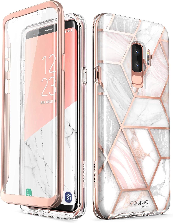 i-Blason Cosmo Full-Body Bumper Case for Galaxy S9 Plus 2018 Release, Marble