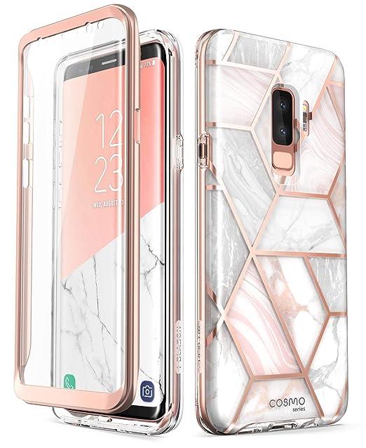 i-Blason Funda Samsung Galaxy S9 Plus [Serie Cosmo] Galaxy S9 Plus Case Carcasa de Cuerpo Completo con Protector de Pantalla Incorporada para Galaxy ...