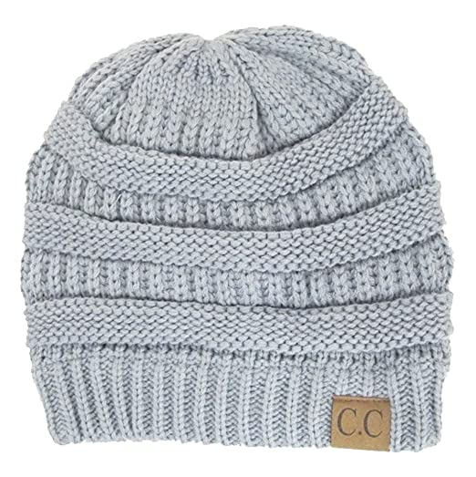 529c2352bbdc87 Image Unavailable. Image not available for. Color: Cambridge Select Women's Winter  White Ivory Thick Slouchy Knit Beanie Cap ...