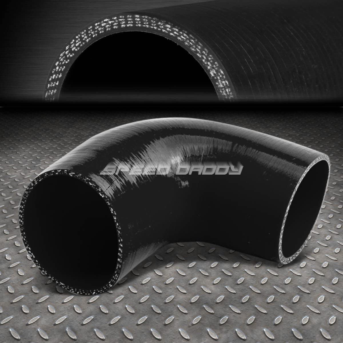 Black 4 inches to 4 inches 90 Degree Elbow 4-Ply Turbo//Intake//Intercooler Piping Silicone Coupler Hose+T-Clamp