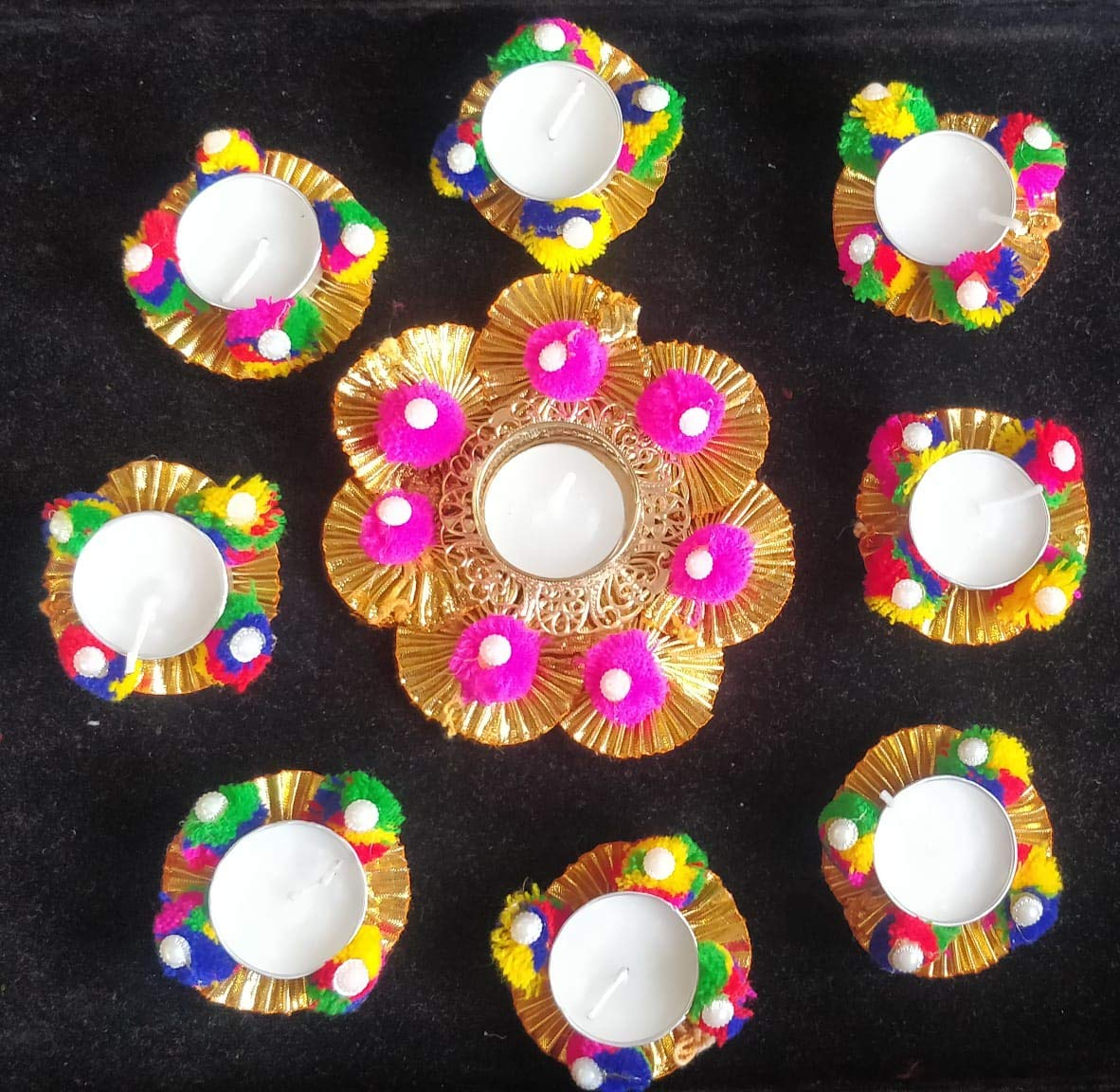 Home Decorative Gotta Diya Set of 9
