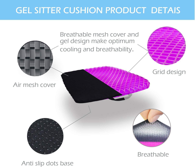 Amazon.com: CHCYCLE Almohadilla de gel para asiento que ...