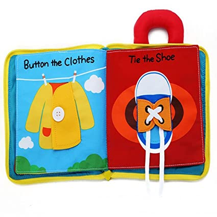 dae6ea74622 ... Ultra Soft Baby books Touch and feel Cloth Book, 3D Books Fabric  Activity for Babies  Toddlers, Learning to Sensory Book、Identify Skill Boys  and Girls, ...