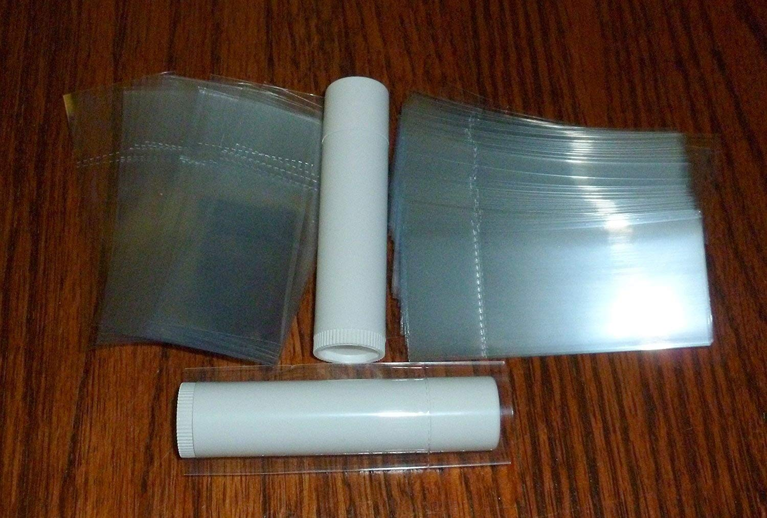 Tubes Tamper Evident Safety Seal Chapstick 250 Clear Shrink Wrap Bands Sleeves for Lip Balm