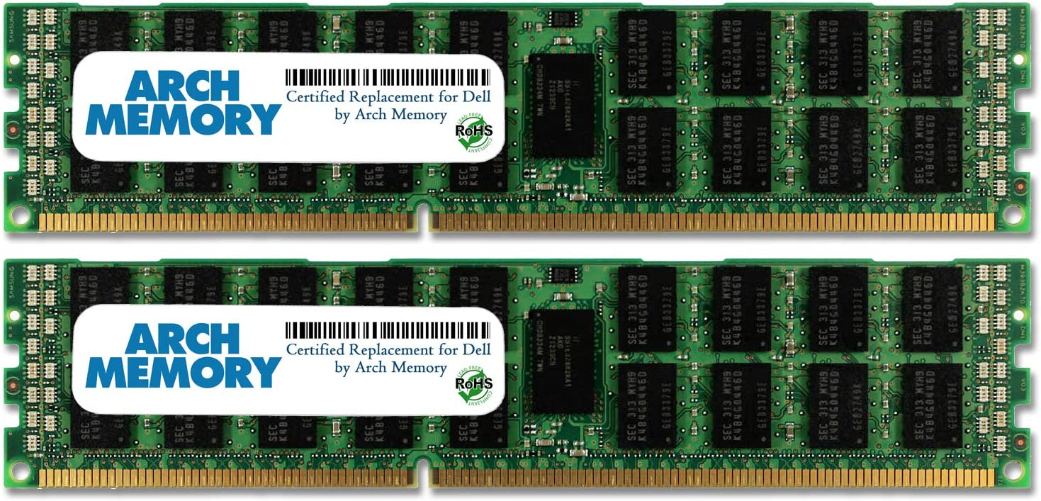 Arch Memory Replacement for Dell SNPMGY5TC//16G A6996789 32 GB Kit 2 x 16 GB 240-Pin DDR3L ECC RDIMM Server RAM for Precision Workstation T7500