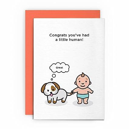 Tarjeta de felicitación para bebé, divertida y humorística ...