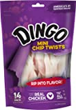 Dingo Mini Chip Twists for All Dogs, with Real Chicken