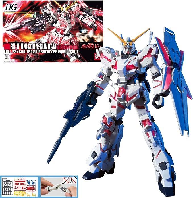 Gundam 1//144 HGUC #134 RX-0 Unicorn 02 Banshee Destroy Mode Bandai 173901 Kit