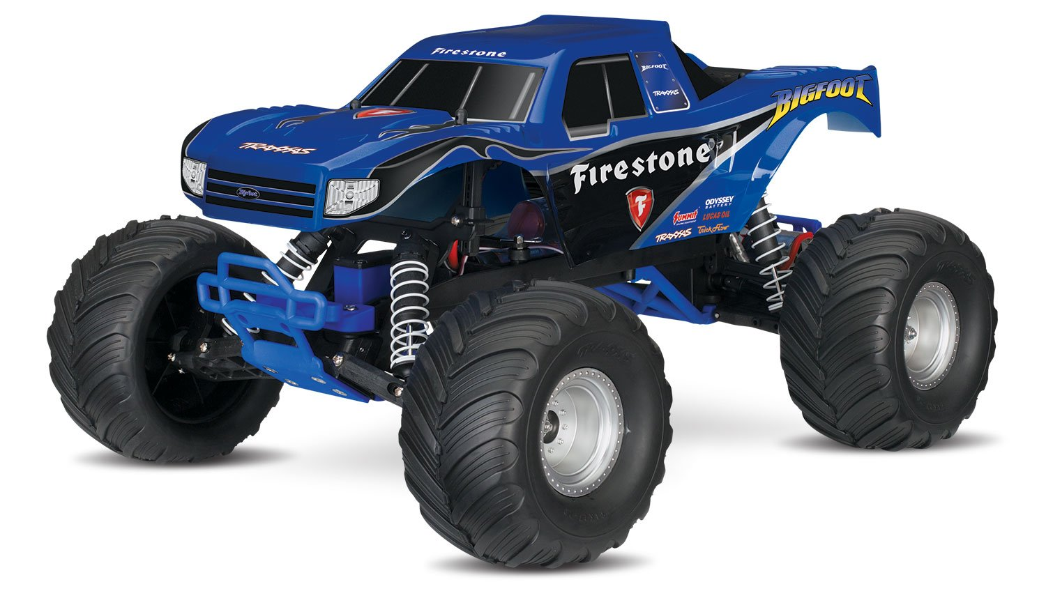 Traxxas Bigfoot 1 10 Scale Ready To Race Monster Truck Slash Pro 2wd Short Course 58034 With Tq 24ghz Radio System Blue Toys Games