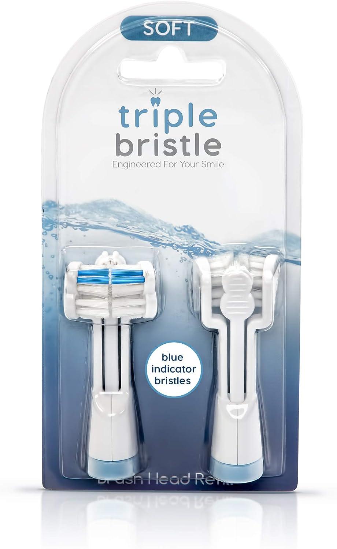 Triple Bristle Cabezales de cepillo de repuesto con cerdas ...