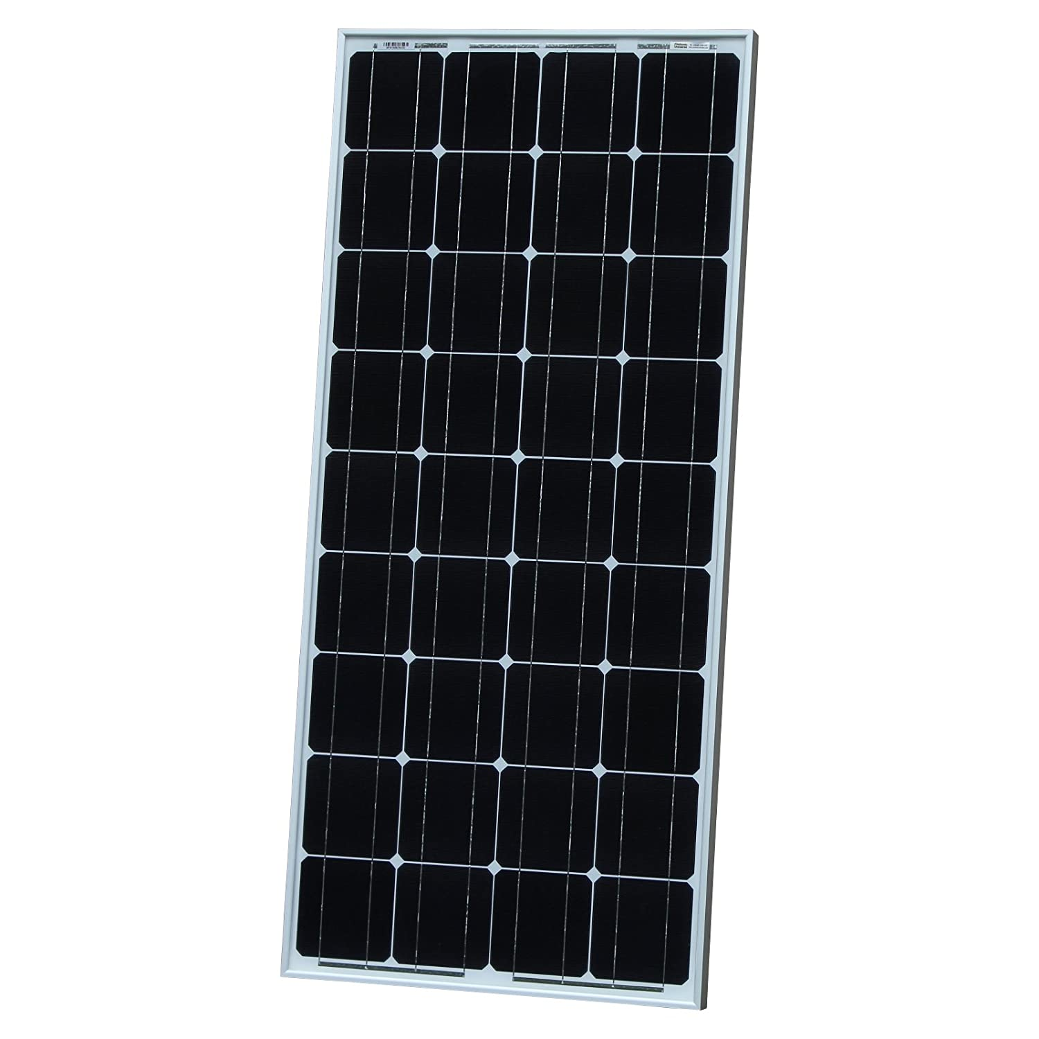 100W Photonic Universe monocrystalline solar panel with 5m of special solar cable, for charging a 12V battery in a motorhome, caravan, camper, boat or yacht, or off-grid / backup solar power systems 100 watt SPA-100M