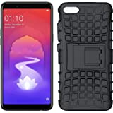 Colorcase Defener with Kick Stand Back Cover Case for Oppo A3s - {Black}