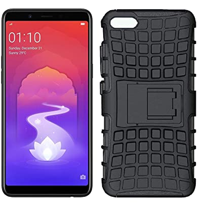 new concept bc248 ffdeb Colorcase Defener with Kick Stand Back Cover Case for Oppo A3s - {Black}