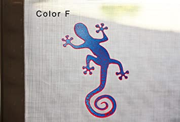 Gecko Screen Door Saver Magnets for Lanai Screen Patio Door Magnets 2 pcs//lot Decorative Holographic Gecko Magnets 6 x 4