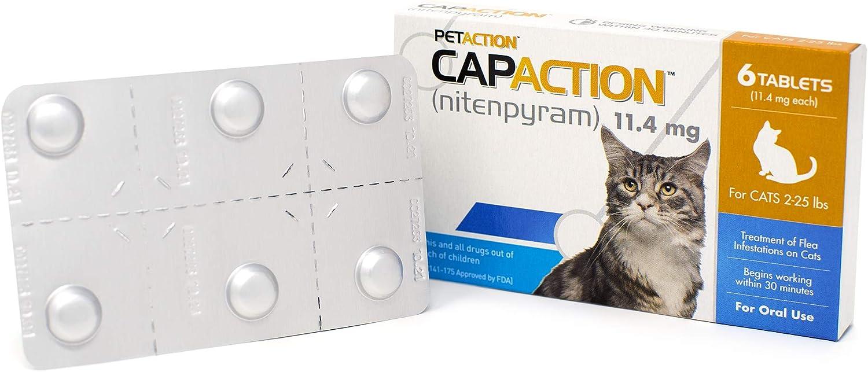 711650150006 Model Number CapAction Oral Flea Treatment Cat 6ct