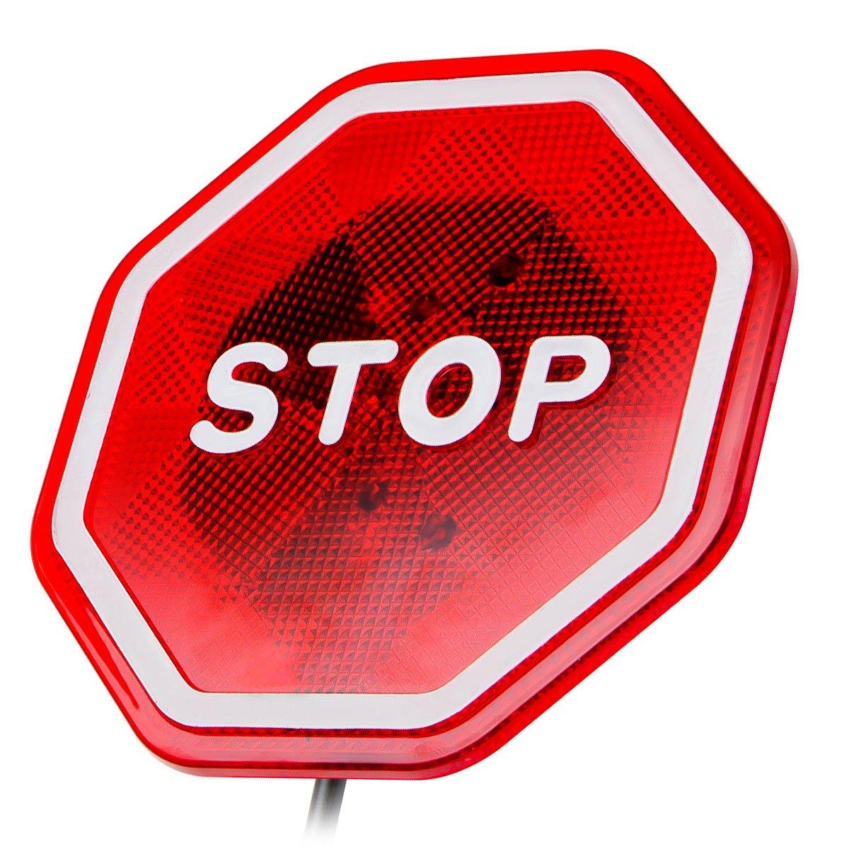 Car Flashing LED Light Garage Parking Signal Stop Sign