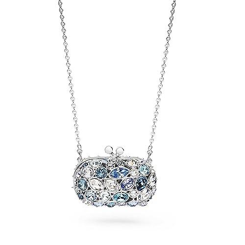 2f01f764ea449d Rosato collana argento con centrale forma pochette con zirconi colorati  azzurri: Amazon.it: Gioielli