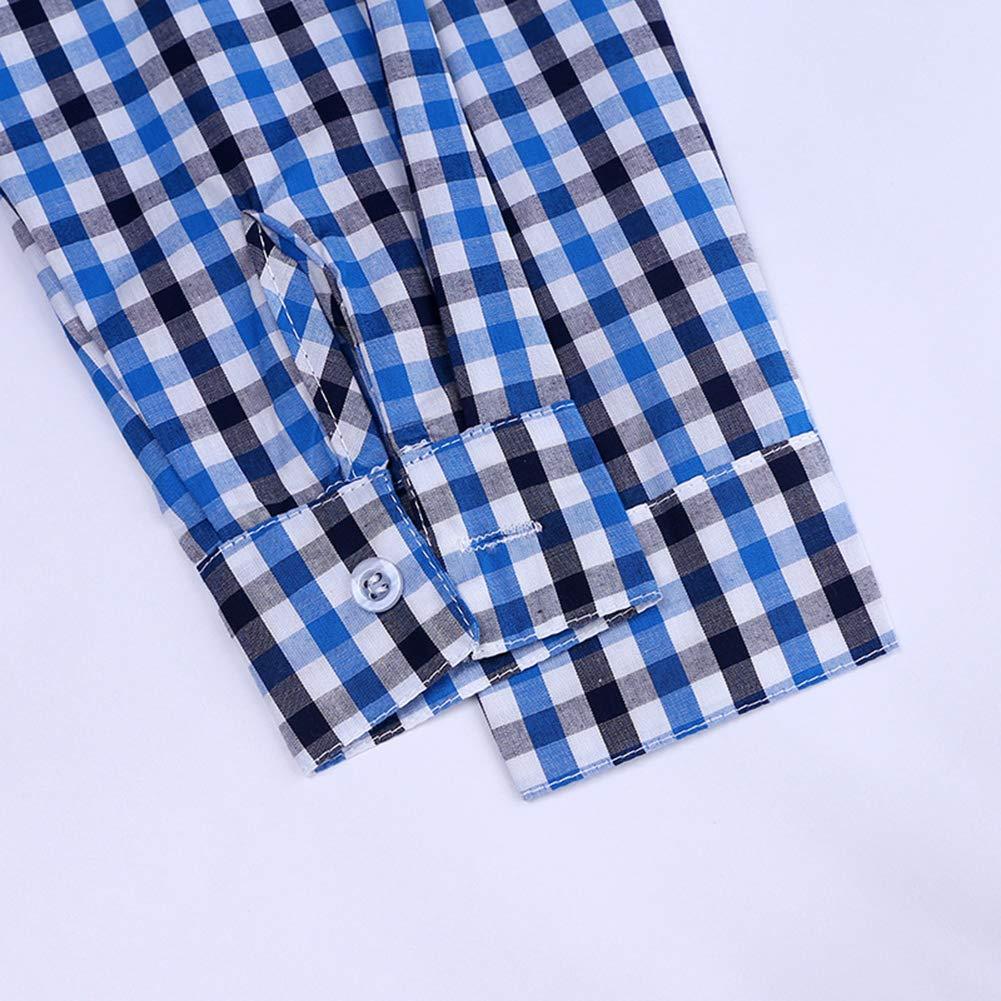 AIKSSOO Toddlers Boys Kids Gentleman Long Sleeve Shirt Cotton Plaid Shirt+Bowtie