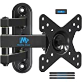 Mounting Dream Full Motion TV Monitor Wall Mount Bracket for 10-26 Inch LED, LCD Flat Screen TV and Monitors, Mount with Full Motion Swivel Articulating Arm, Up to VESA 100x100mm and 33 lbs MD2463-04