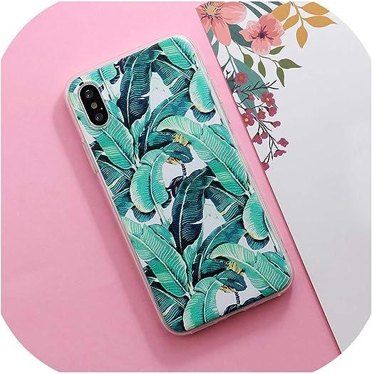 Coque iPhone 7 Fleurs Plantes Fruit Cactus Feuilles Silicone Phone ...