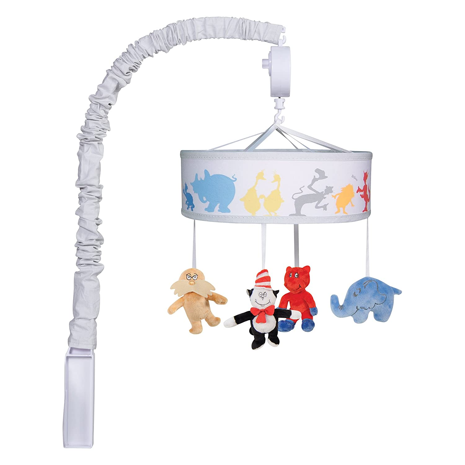 Trend Lab Dr. Seuss Friends, Cat in Hat Musical Crib Mobile, Baby Mobile, Nursery