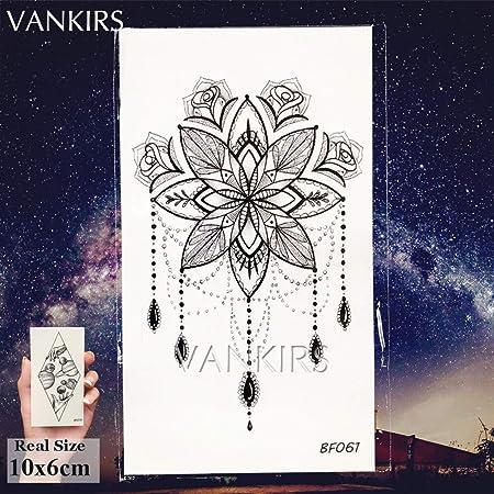 Zhuhuimin India 5 unids Tattoo Mandala Sticker Sra. Body Art ...