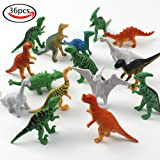 LoveS 36pcs Assorted Mini Simulation Dinosaur Toy Set for Kids Learning or Party Favor