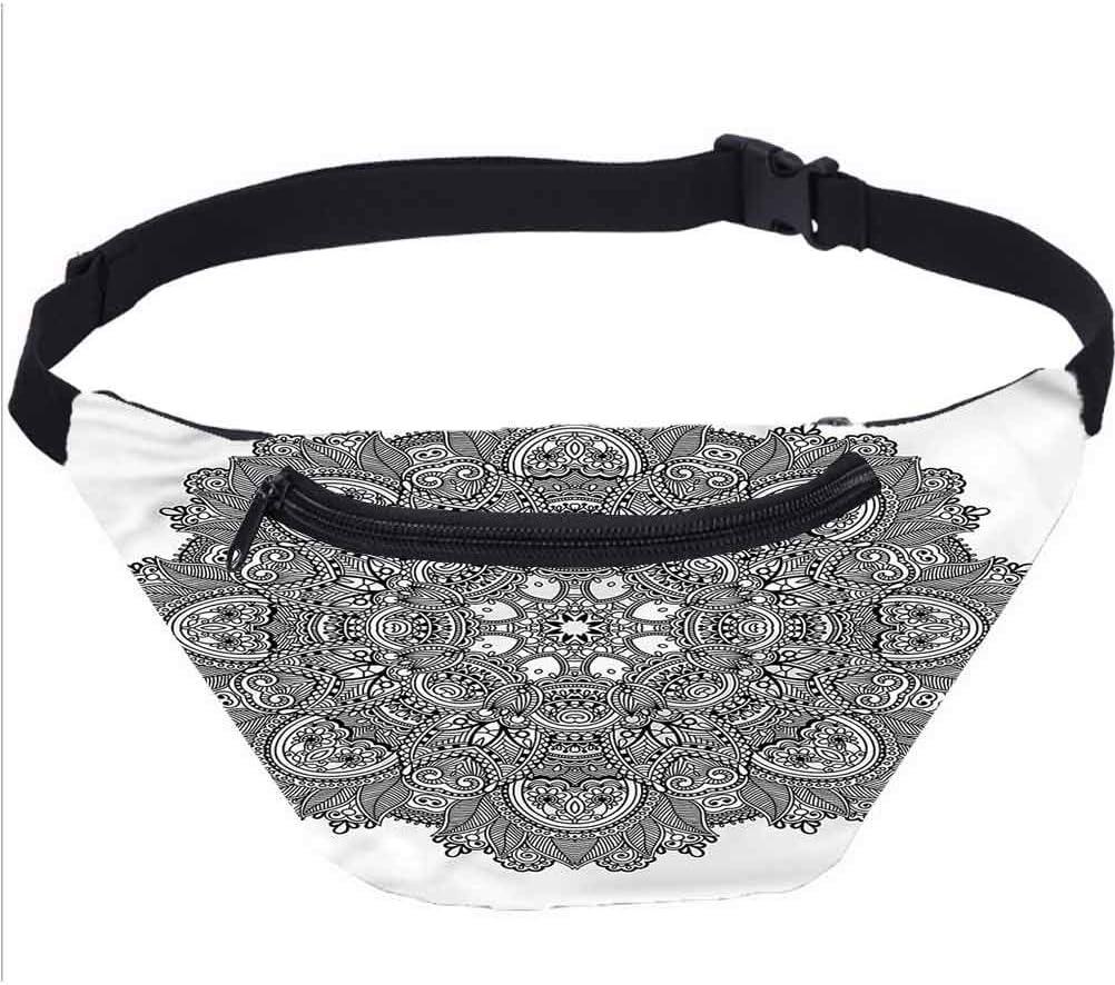 Lotus Fanny Pack Bolsa,detallado Mosaico Om Running Travel Sports Bags para Festival Rave