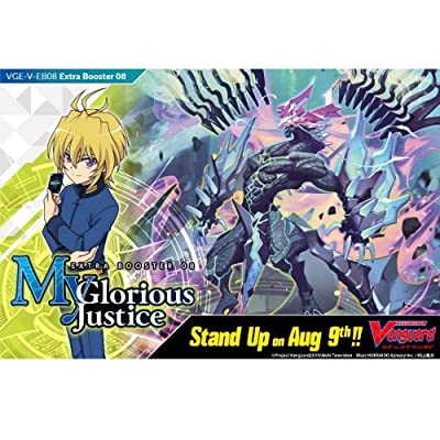 Cardfight Vanguard VGE-V-EB08-EN V-My Glorious Justice-Extra Booster Display Box of 12 Packets, Multi: Toys & Games