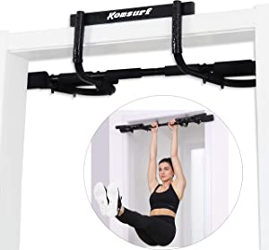 Komsurf Pull up Bar for Doorway, Door Pullup Chin up Bar Home, Multifunctional Portable Dip bar Fitness, Exercise Equipment Body Gym System No Screws Trainer