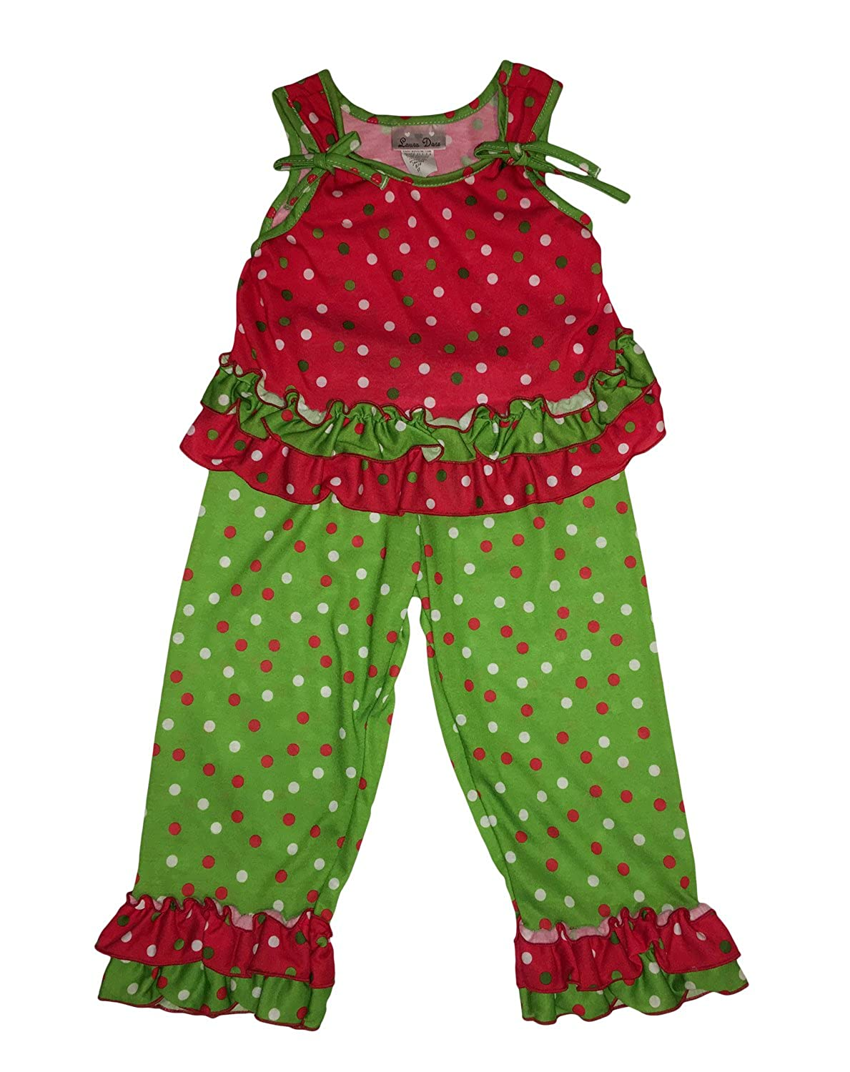 Little Girls Nutcracker Doll 2 Piece Pajama Set