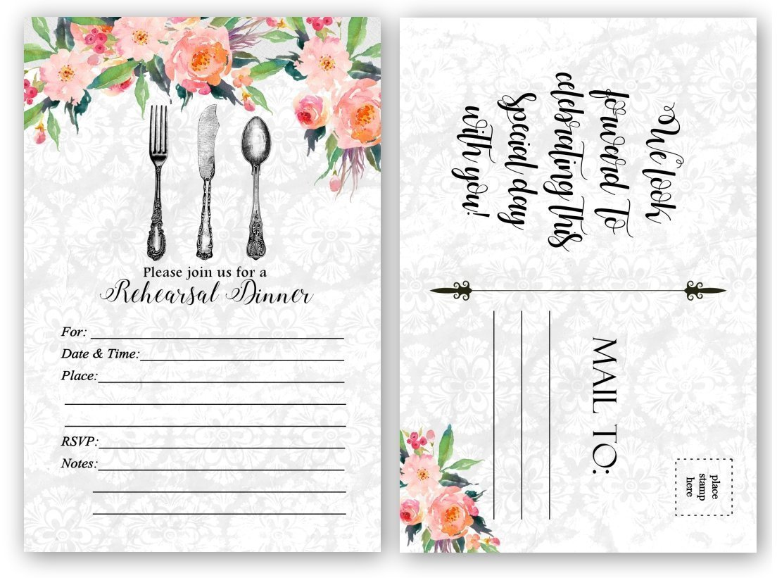 Rehearsal Dinner Invitations 20 Count