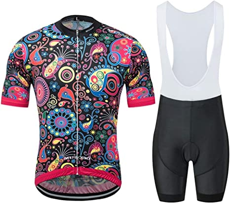 Conjunto Ropa De Ciclismo Para Hombre,Hombres Camiseta De Ciclismo Y 3D Bicicleta Bib Shorts Acolchados Juego De Moda De Verano Imprimir Quick-Dry Manga Corta Jersey Bicicletas Btt Para Bicicletas De: Amazon.es: Deportes