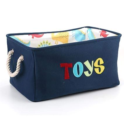 Tebery Contenedor de canasta grande para juguetes Caja de ...