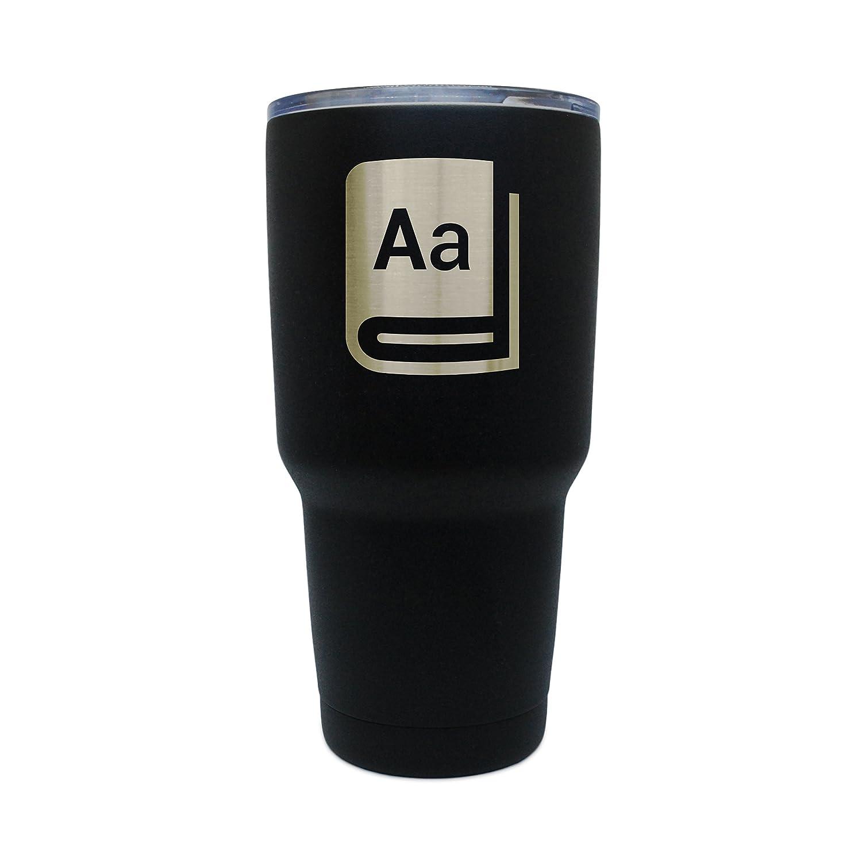 Diccionario negro acero inoxidable vaso, 30 oz con aislamiento vaso, grabados con láser en EE. UU.: Amazon.es: Hogar