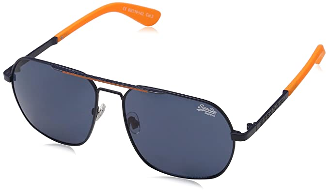 Superdry Cityline Gafas de Sol, Multicolor (Navy/Orange ...