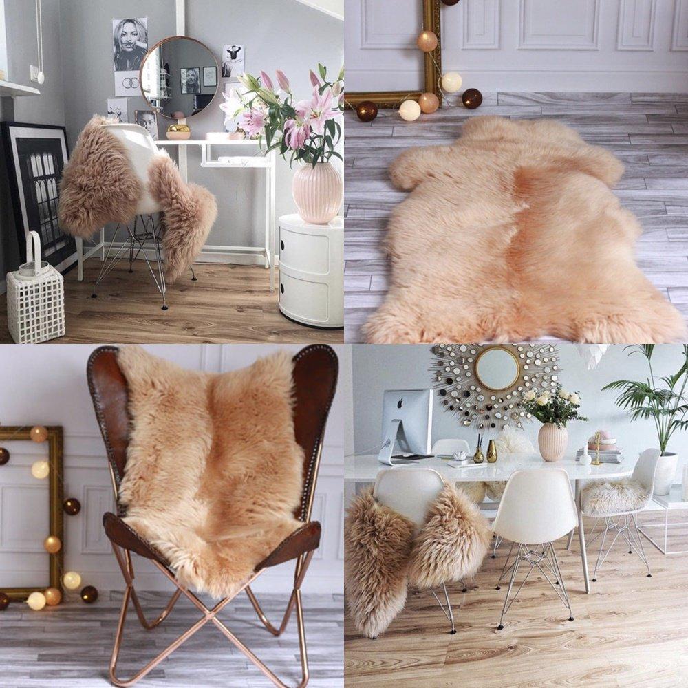 Sheepskin Rug | Real Sheepskin Rug |Champagne Pink Sheepskin | Sheepskin Rug | Pale Pink Sheepskin | Sheepskin | Nursery decoration | Pale Pink Sheepskin Throw | Rose Gold | 110x 65cm | 43'x 25'