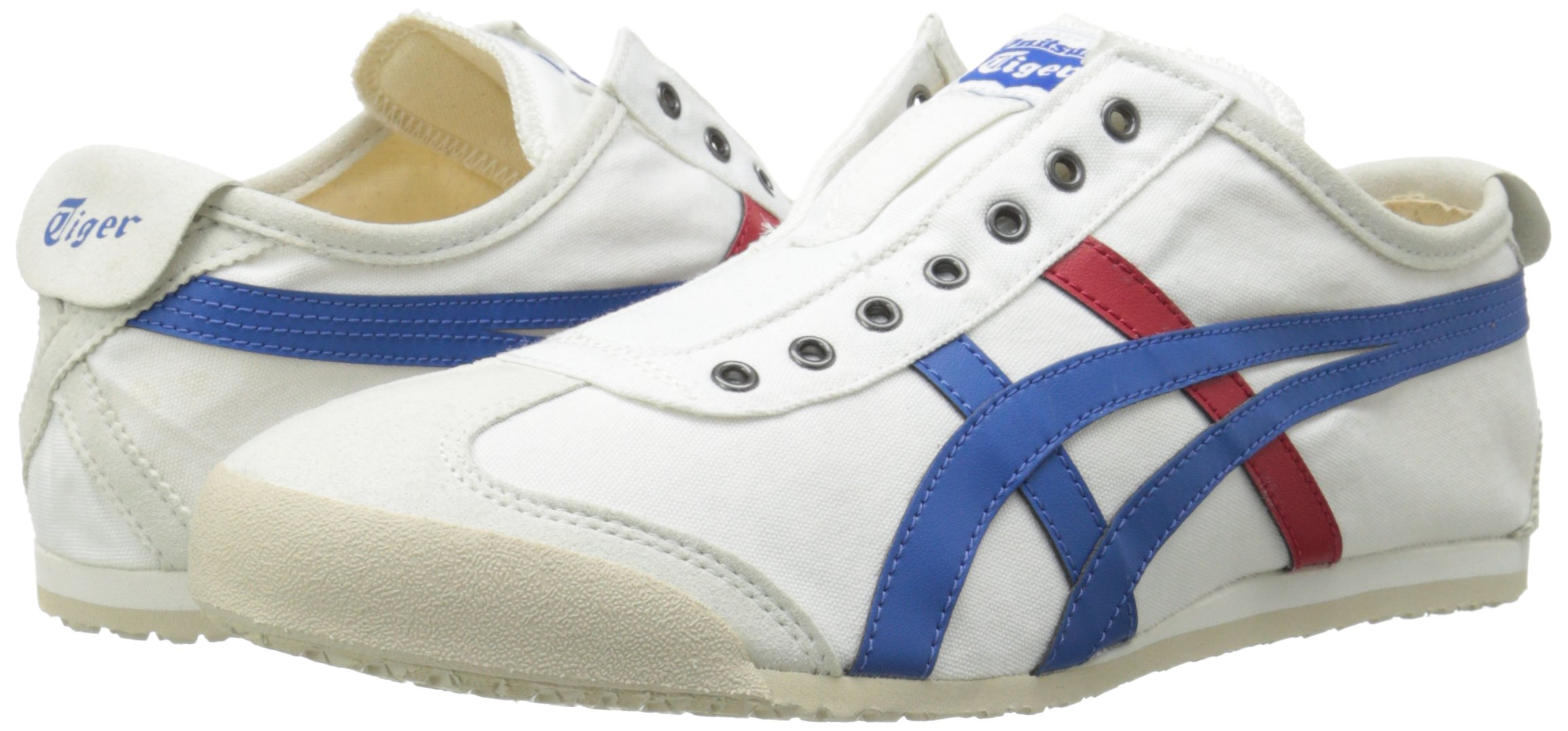 Onitsuka Tiger Unisex Mexico 66 Slip-on Shoes D3K0N, White/Tricolor, 9.5 M US by Onitsuka Tiger (Image #6)
