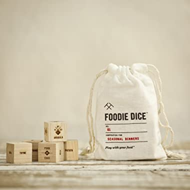 Foodie Dice® No. 1 Seasonal Dinners (pouch) // Mother's Day gift, Gift for mom, foodies, cooking gift, or birthday gift
