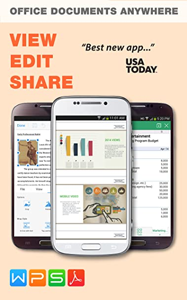 WPS Office PDF Appstore For Android